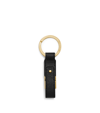 Saffiano Leather USB Keychain - BLACK - 32F5GELK8L