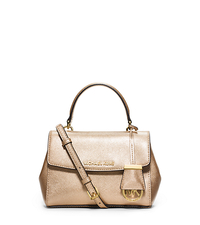 Ava Extra-Small Saffiano Leather Crossbody - PALE GOLD - 32F5MAVC1M