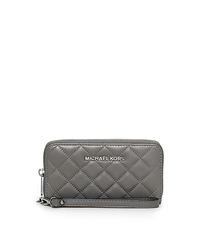 Susannah Large Quilted-Leather Smartphone Wristlet - STEEL GREY - 32F5SAHZ9L