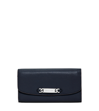 Emily Leather Wallet - NAVY - 32F5SEIF3L