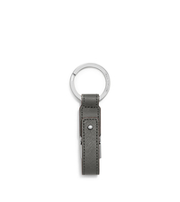 Saffiano Leather USB Keychain - STEEL GREY - 32F5SELK8L