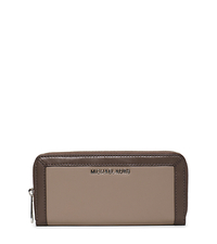 Jet Set Two-Tone Leather Continental Wallet - DARK TAUPE/ELEPHANT - 32F5SJFZ1L