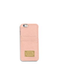 Saffiano Leather Pocket Smartphone Case - PASTEL PINK - 32H4GELL3L