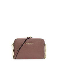 Jet Set Large Saffiano Leather Crossbody - DUSTY ROSE - 32S4GTVC3L