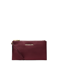 Bedford Large Leather Zip Wristlet - MERLOT - 32T4GBFW7L