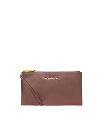 Bedford Large Leather Zip Clutch - DUSTY ROSE - 32T4GBFW7L