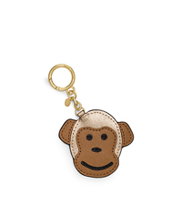 Monkey Leather Key Fob - PALE GOLD - 32H5MLXK1M