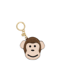 Monkey Leather Key Fob - CARAMEL - 32H5GLXK1S