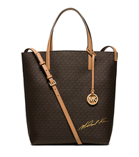Signature Logo Large Convertible Tote - BROWN/PEANUT - 30H5GMKT3B