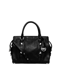 Collins Stud Medium Leather Satchel - BLACK - 30F5SCVS2L