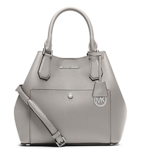 Greenwich Large Saffiano Leather Satchel - PGREY/STGREY - 30S5SGRT7U