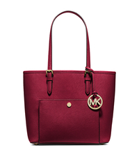 Jet Set Medium Saffiano Leather Tote - CHERRY - 30F4GTTT8L