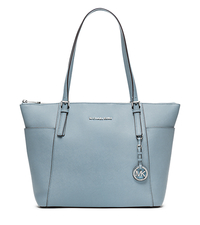Jet Set Large Top-Zip Leather Tote - POWDER - 30F4STTT9L