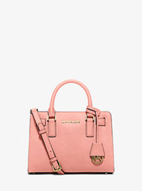 Dillon Small Saffiano Leather Satchel - PALE PINK - 30H5GAIM1L
