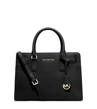 Dillon Saffiano Leather Satchel - BLACK - 30H5GAIS3L