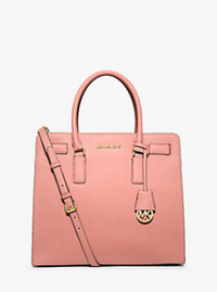 Dillon Large Saffiano Leather Satchel - PALE PINK - 30H5GAIT3L