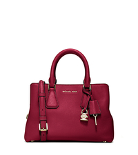 Camille Small Leather Satchel - CHERRY - 30H5GCAS1L