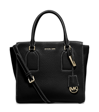 Selby Large Leather Satchel - BLACK - 30H5GEYS3L