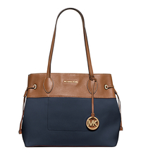 Marina Large Canvas Tote - NAVY - 30H5GMAT6C