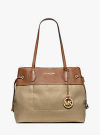 Marina Large Canvas Tote - GOLD - 30H5GMAT6C