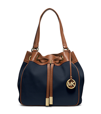 Marina Large Canvas Drawstring Tote - NAVY - 30H5GMAT7C