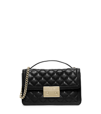 Sloan Small Leather Crossbody - BLACK - 30H5GSLM1L