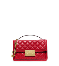 Sloan Small Leather Crossbody - RED - 30H5GSLM1L