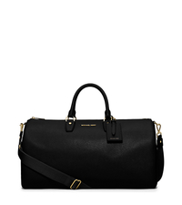 Jet Set Large Leather Weekender - BLACK - 30H5GTTU3L