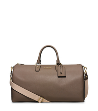 Jet Set Large Leather Weekender - DARK DUNE - 30H5GTTU3L