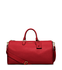 Jet Set Large Leather Weekender - RED - 30H5GTTU3L