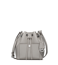 Greenwich Small Saffiano Leather Bucket Bag - PEARL GREY/SILVER - 30H5MGRM1M
