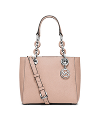 Cynthia Extra-Small Saffiano Leather Satchel - BALLET - 30H5SCYS1L