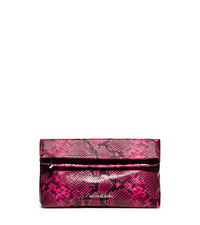 Daria Embossed-Leather Clutch - FUCHSIA - 30H5SDIC2E