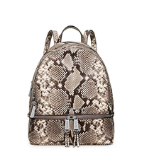 Rhea Small Embossed-Leather Backpack - NATURAL - 30H5SEZB1N