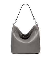 Fulton Medium Leather Shoulder Bag - STEEL GREY - 30H5SFTL2L