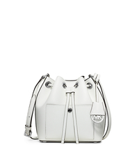 Greenwich Small Saffiano Leather Bucket Bag - NAVY/WHITE - 30H5SGRM1U
