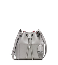 Greenwich Small Saffiano Leather Bucket Bag - PGREY/CORAL - 30H5SGRM1U