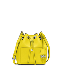 Greenwich Small Saffiano Leather Bucket Bag - CANARY/DK TAUPE - 30H5SGRM1U