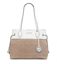 Marina Large Washed-Canvas Tote - HEMP - 30H5SMAT2C