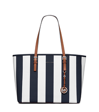 Jet Set Travel Medium Saffiano Leather Tote - NAVY/WHITE - 30H5SVST6R