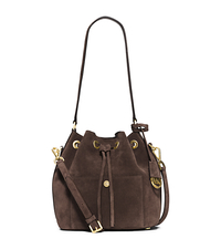 Greenwich Suede Bucket Bag - COFFEE - 30H5TGRM2S