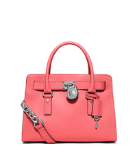 Hamilton Saffiano Leather Satchel - CORAL - 30S3SHMS3L