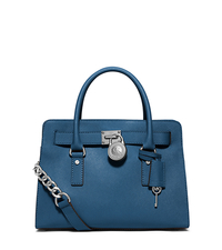 Hamilton Saffiano Leather Satchel - STEEL BLUE - 30S3SHMS3L