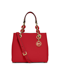 Cynthia Small Leather Satchel - RED - 30S5GCYS1L