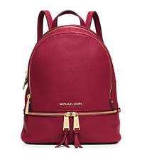 Rhea Small Leather Backpack - CHERRY - 30S5GEZB1L