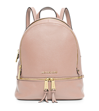 Rhea Small Leather Backpack - BALLET - 30S5GEZB1L
