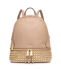 Rhea Small Studded Leather Backpack - BALLET - 30S5GEZB5L