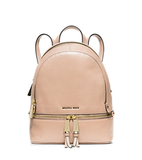 Rhea Extra-Small Leather Backpack - BALLET - 30S5GEZB8L