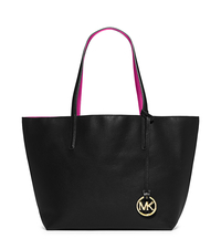 Izzy Large Reversible Leather Tote - BLACK/FUCHSIA - 30S5GZYT7U