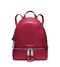 Rhea Extra-Small Studded Leather Backpack - CHERRY - 30S5SEZB8L